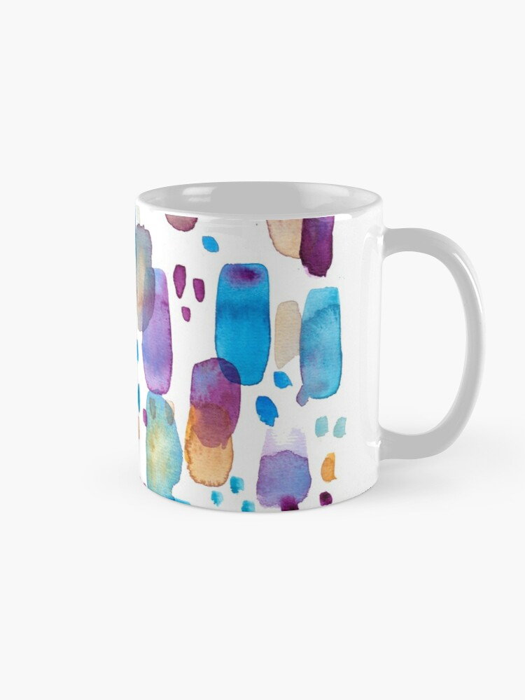Alternate view of Watercolors blue and purple strokes Mug