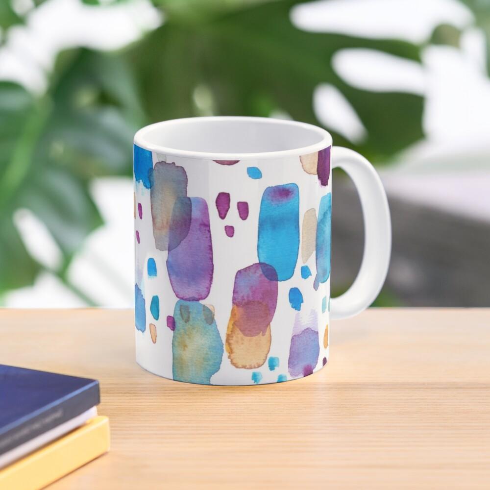 Watercolors blue and purple strokes Mug