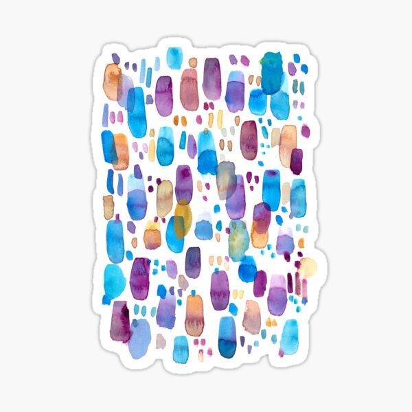 Watercolors blue and purple strokes Sticker