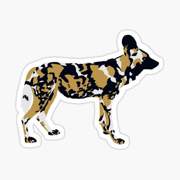 African Painted Dog Portrait Sticker