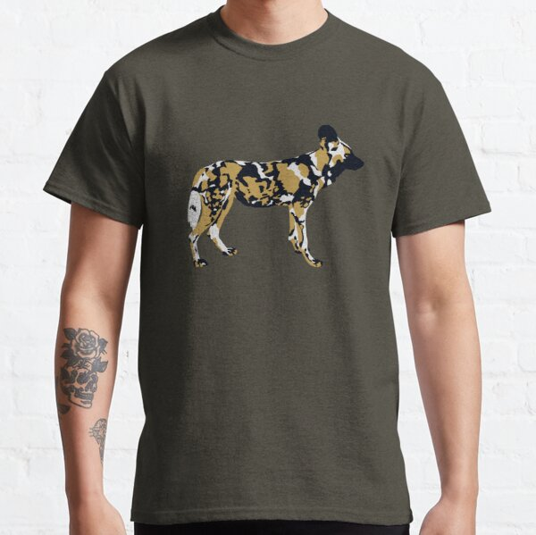 African Painted Dog Portrait Classic T-Shirt