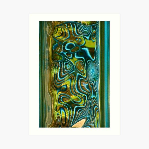 Green Blue Glass II Art Print
