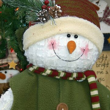 Snowman with Green Vest by Mowny