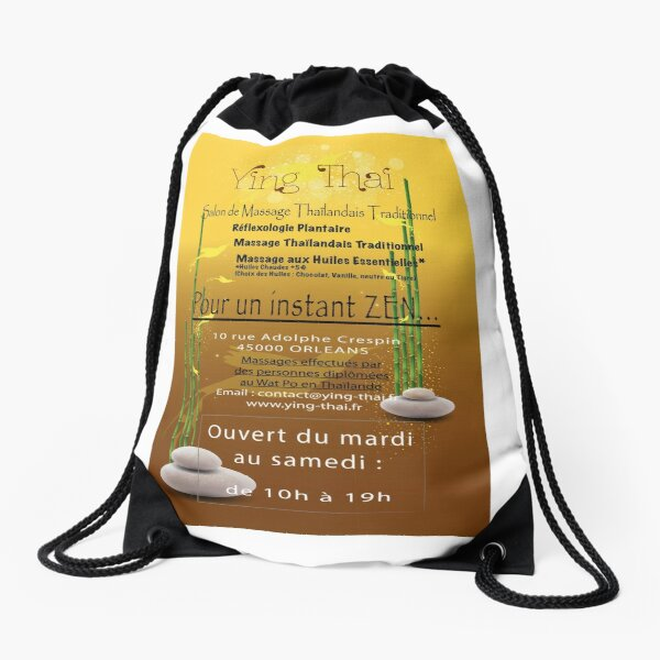 Traditional Thai Massage Institute in Orléans Drawstring Bag