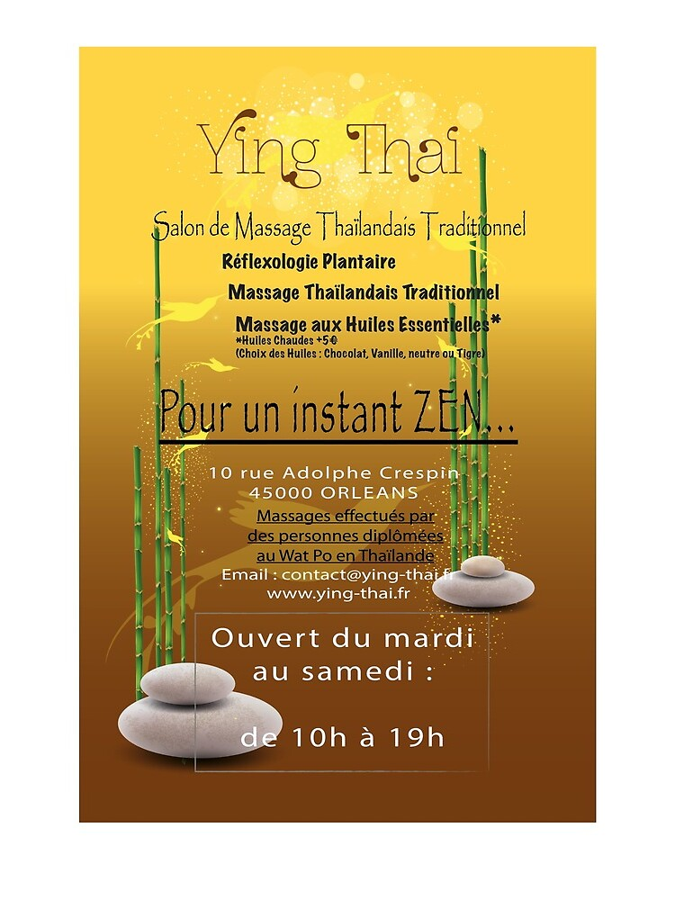 Traditional Thai Massage Institute in Orléans by YingThaiOrleans