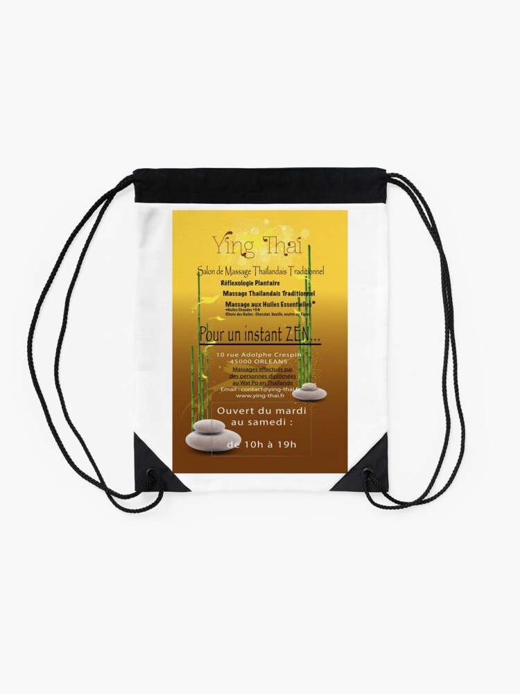 Alternate view of Traditional Thai Massage Institute in Orléans Drawstring Bag