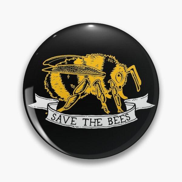 Save The Bees! (Dark Bumble Bee - Profile) Pin