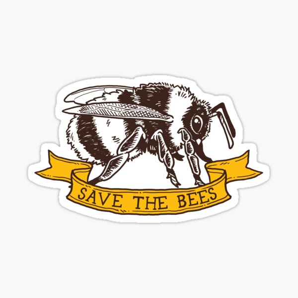 Save The Bees! (Bumble Bee - Profile) Sticker