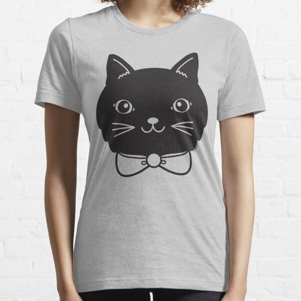 Cool Black Kitty Cat Face Essential T-Shirt