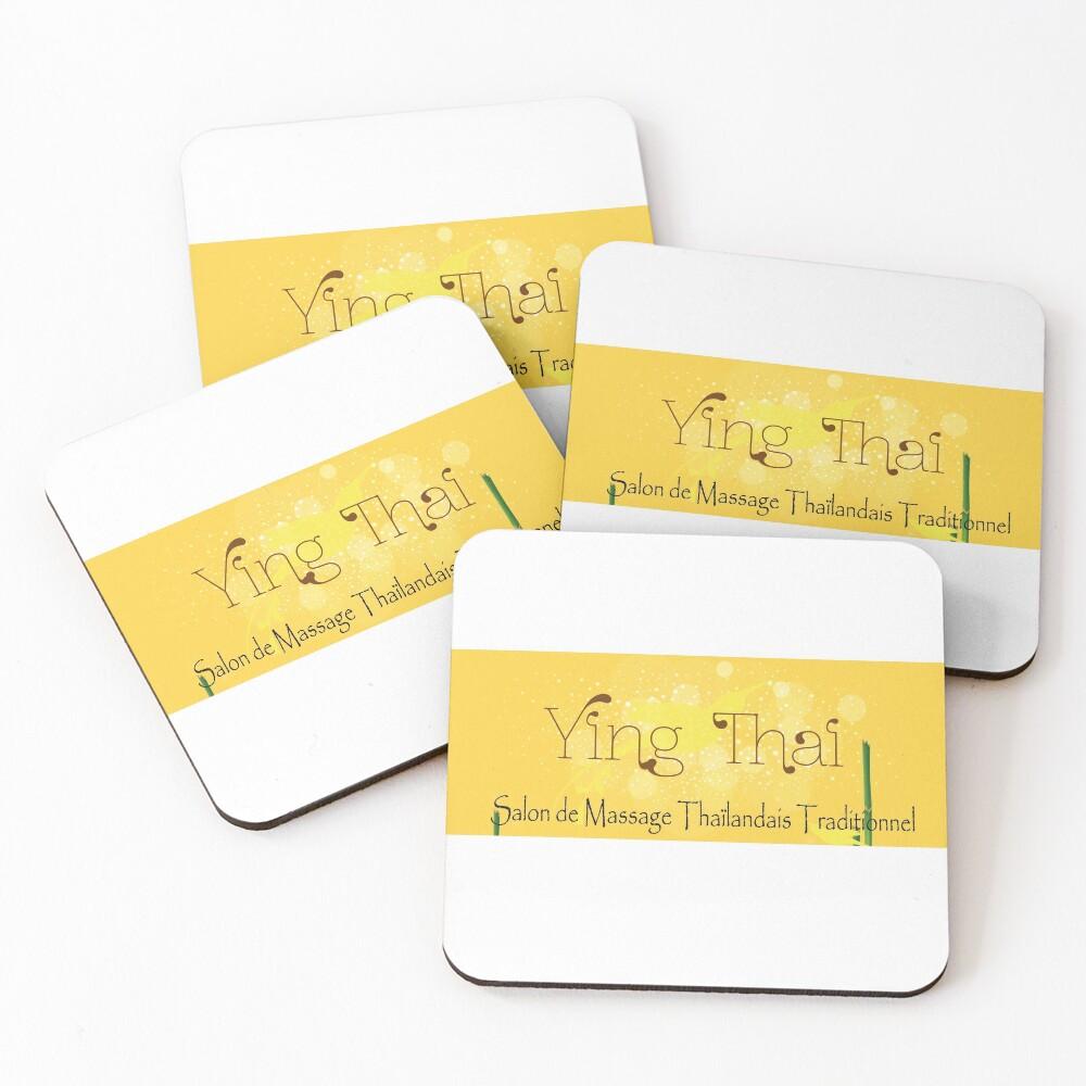 Dessous de verre (lot de 4) «Institut de Massage Thaïlandais Traditionnel à Orléans»