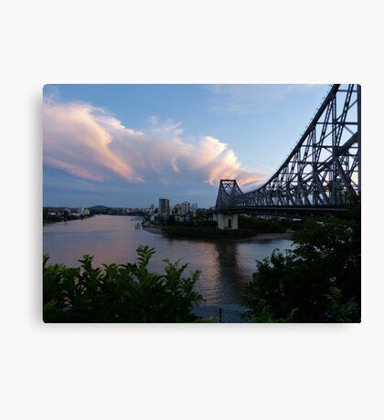 Brisbane at sunset Canvas Print