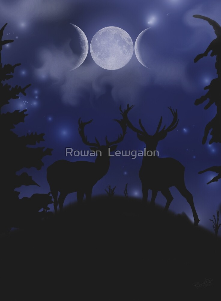 Goddess Stags by Rowan  Lewgalon