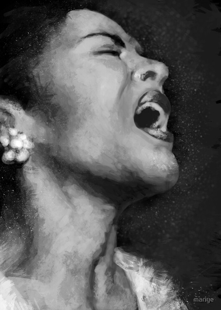 Billie Holiday by mariye