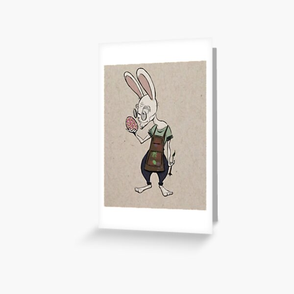 Egg Inspector Greeting Card