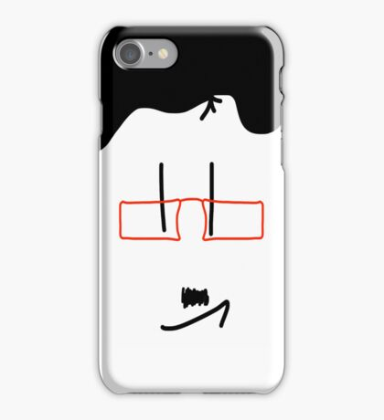 Red Glasses iPhone Case/Skin