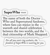 SuperWho, a Definition Sticker