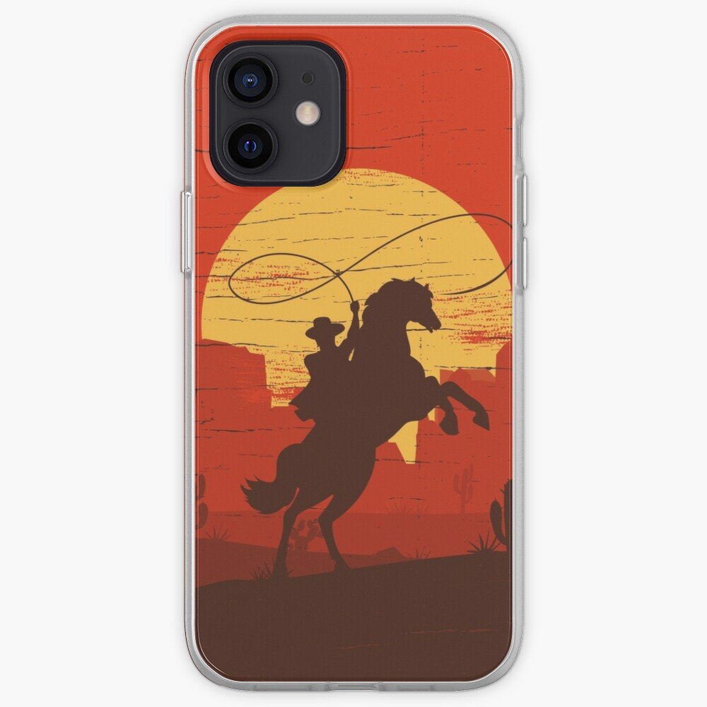 Cowboys of the Wild West - Riding Solo iPhone Case & Cover
