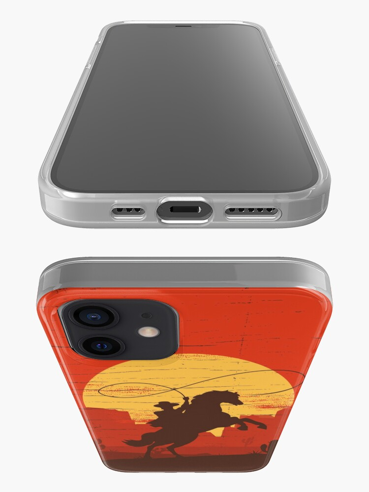 Alternate view of Cowboys of the Wild West - Riding Solo iPhone Case & Cover