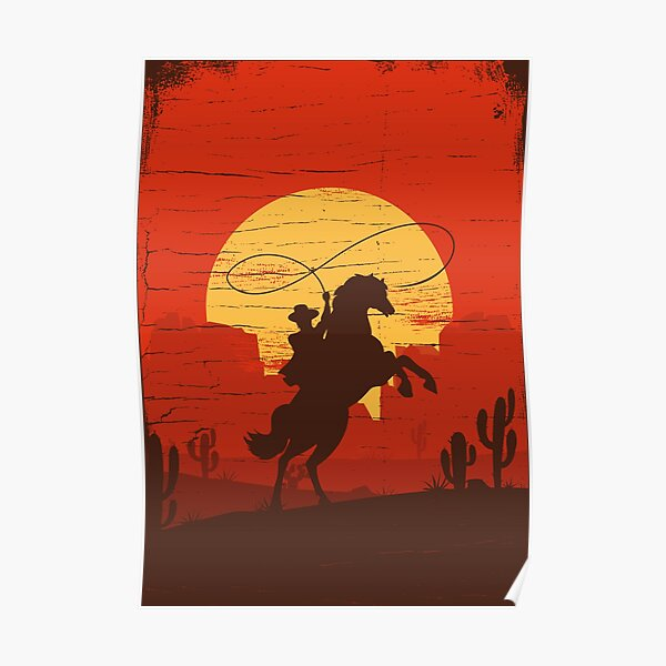 Cowboys of the Wild West - Équitation Solo Poster