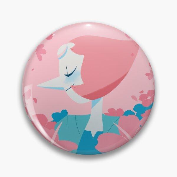 Pastel Pearl portrait Pin