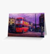 London trolleybus Greeting Card