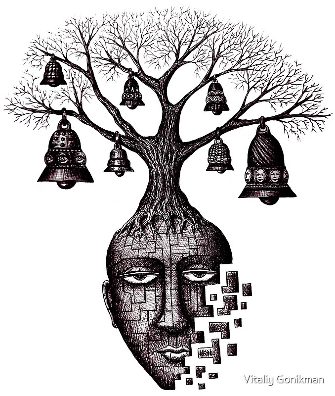 Quot Inner World Surreal Black And White Pen Ink Drawing Quot By