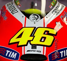 Front of Rossi's bike iPhone case by corsefoto