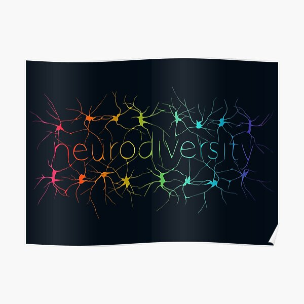 Neuron Diversity - Alternative Rainbow Poster