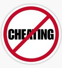 No Cheating Sticker