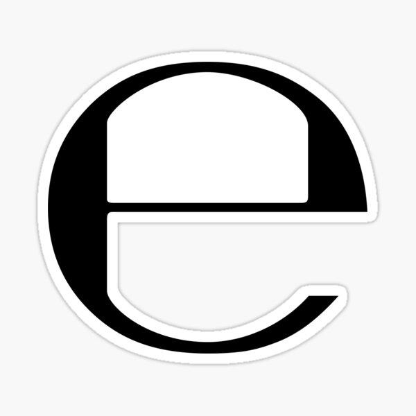 e by Ecco2k Sticker
