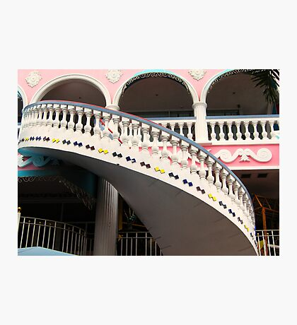 Staircase at the Royal Plaza  Photographic Print