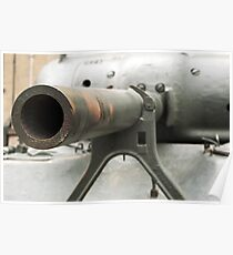Tank cannon close up. Poster