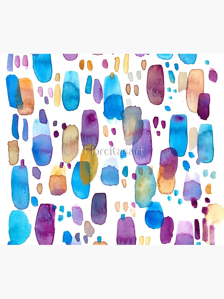 Watercolors blue and purple strokes by Florcitasart