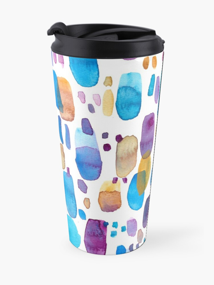 Alternate view of Watercolors blue and purple strokes Travel Mug