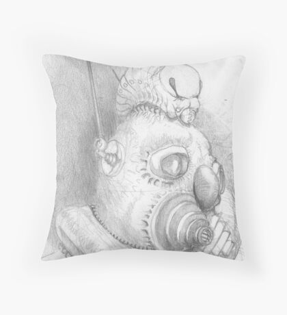 Mining pencil sketch Throw Pillow