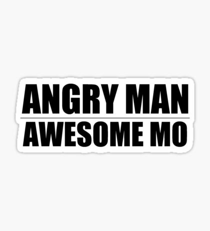 Angry Man Awesome Mo Sticker