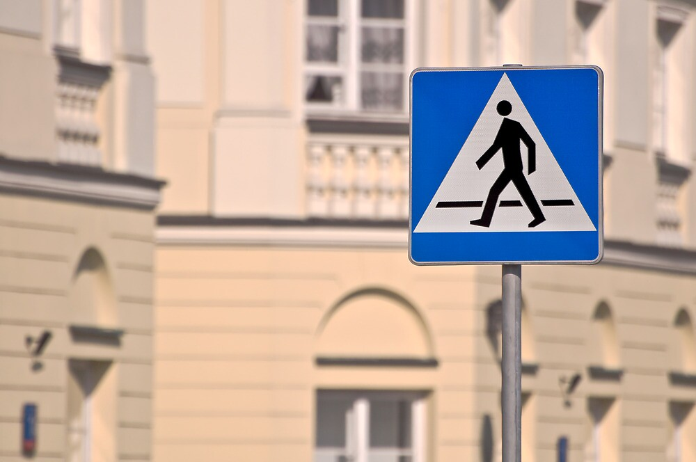 Pedestrian crossing sign. by FER737NG