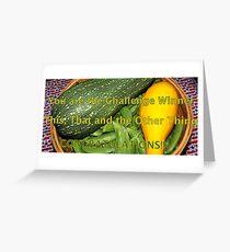 Challenge  Winner banner - veggies Greeting Card