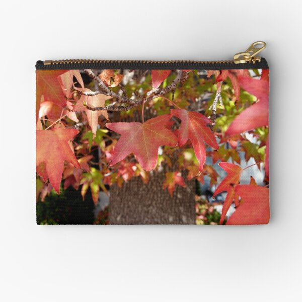 Red Leaves in Autumn Zipper Pouch