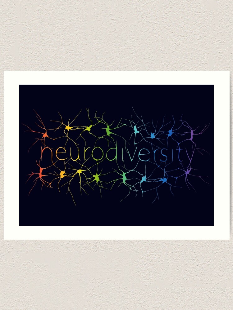 Alternate view of Neuron Diversity - Classic Rainbow Art Print