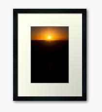 Fiery Framed Print