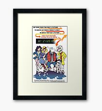 Future Day Halloween Dress up Back to The Future Framed Print