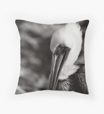 Pelecanus occidentalis Throw Pillow