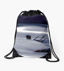 Kitesurfing - Riding the Waves in a Blur of Speed Drawstring Bag