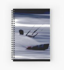 Kitesurfing - Riding the Waves in a Blur of Speed Spiral Notebook