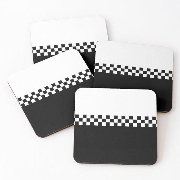 Two Tone Mod Ska 60s Retro Black & White  Coasters (Set of 4)