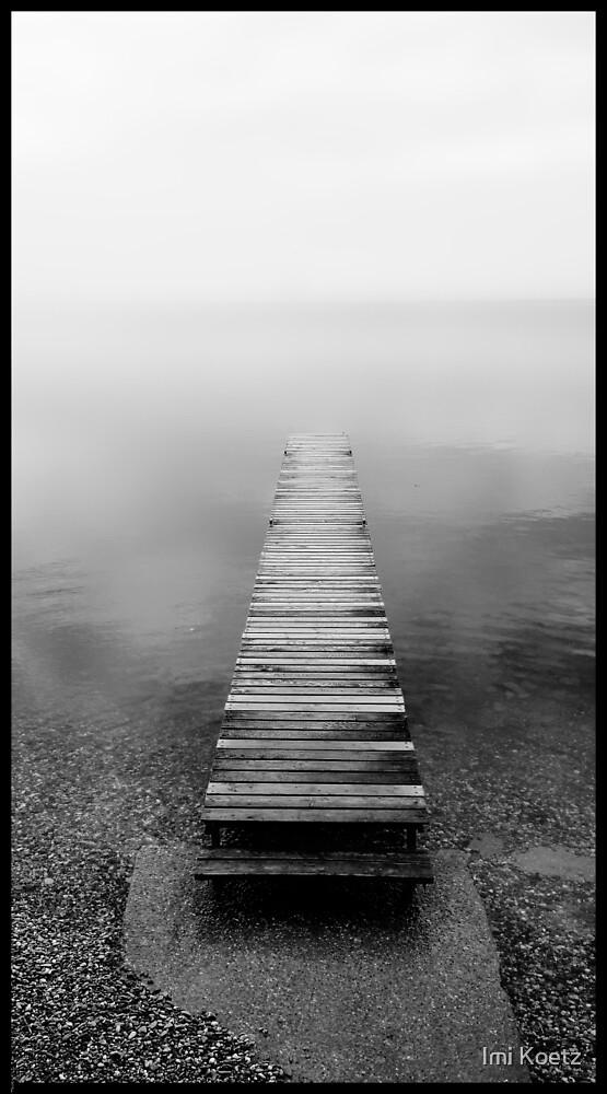 Pier at the foggy Lake Geneva.........France by Imi Koetz