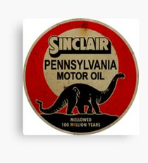 Sinclair Motor Oil vintage sign reproduction. Rusted version Canvas Print
