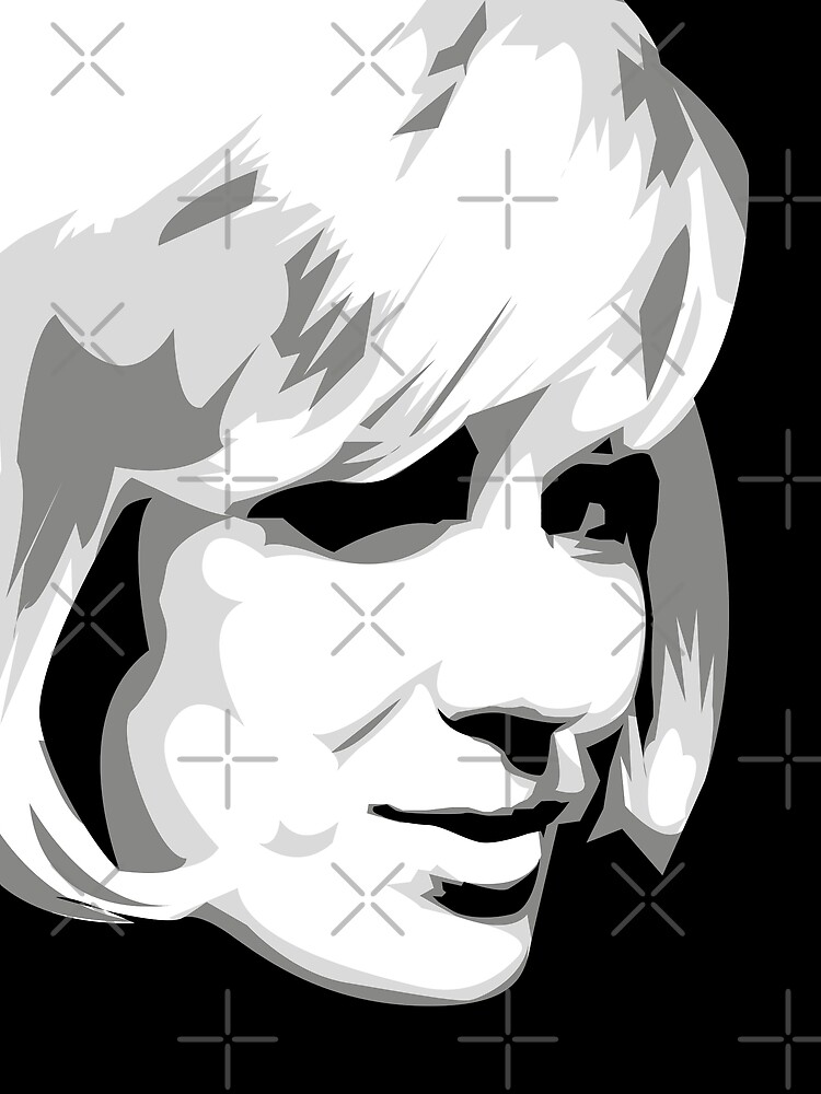Dusty - Pop Icon Black and White portrait by gregs-celeb-art