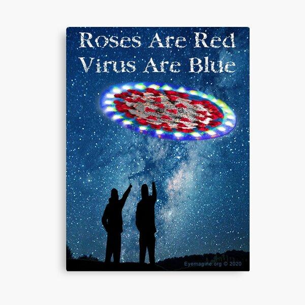 Virus Are Blue Canvas Print